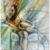 oil-painting-by-george-scicluna-composition-with-a-girl-no-26