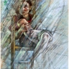 oil-painting-by-george-scicluna-composition-with-a-girl-no-28