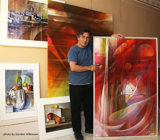Compositions and Brushstrokes exhibition by George Scicluna